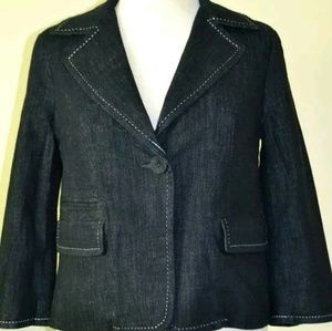 TALBOTS  Cotton denim jacket  sz 8